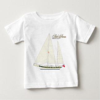 帆船のsobraon。背部 ベビーTシャツ