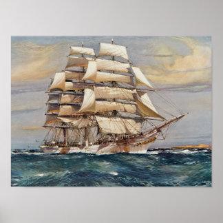 帆船トマスStephens ポスター