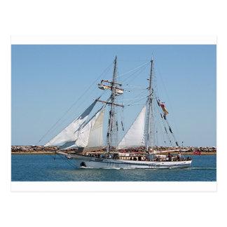 帆船1の港アデレード、南オーストラリア ポストカード