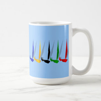帆   ボートをヨットに乗っている航行のヨットの恋人 コーヒーマグカップ
