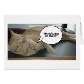 希望および変更または猫のユーモア カード