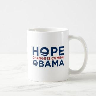 希望および変更 コーヒーマグカップ