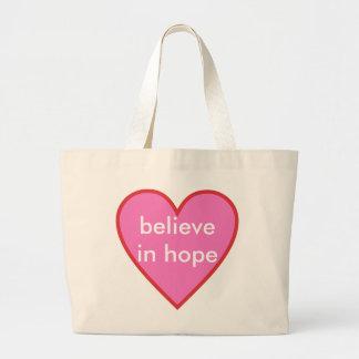 希望で信じて下さい ラージトートバッグ