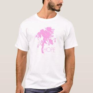 希望のピンクのリボン木 Tシャツ