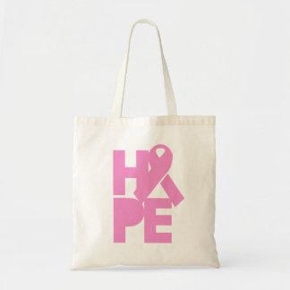 希望のピンクのリボン トートバッグ