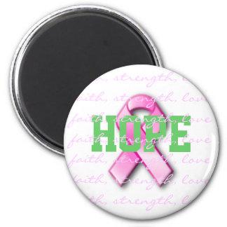 希望の乳癌のピンクのリボンの磁石 マグネット