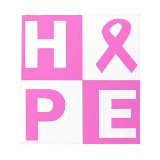 希望の乳癌の認識度 ノートパッド