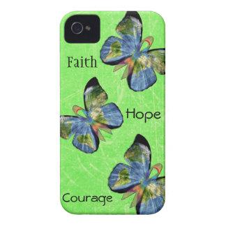 希望の信頼および勇気のライム病の電話箱 iPhone 4 カバー