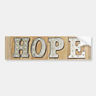 希望の印のバンパーステッカー バンパーステッカー