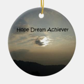 希望の夢は達成します セラミックオーナメント