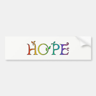 希望の感動的なメッセージ バンパーステッカー