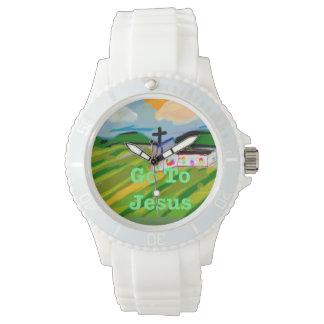 希望の治療教会はイエス・キリストのケイ素の腕時計に行きます 腕時計