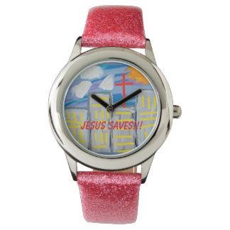 希望の治療教会イエス・キリストはグリッターの腕時計を救います 腕時計