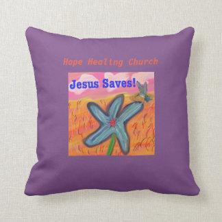 希望の治療教会イエス・キリストは信頼の装飾用クッションを救います クッション