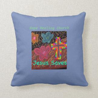 希望の治療教会イエス・キリストは装飾用クッションを救います クッション