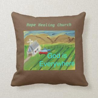 希望の治療教会キリスト教のイエス・キリストの装飾用クッション クッション