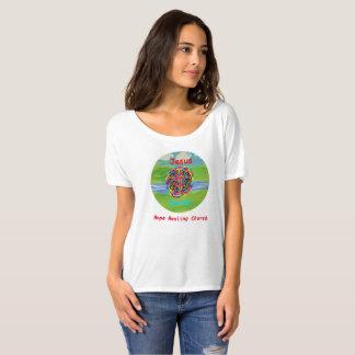 希望の治療教会キリスト教のイエス・キリストレディースTシャツ Tシャツ