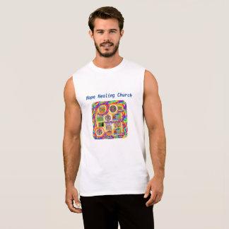 希望の治療教会キリスト教の十字のTシャツ 袖なしシャツ