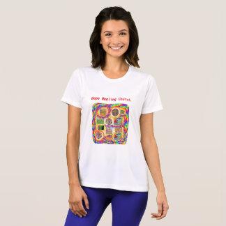 希望の治療教会キリスト教の十字レディースTシャツ Tシャツ