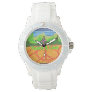 希望の治療教会キリスト教の平和及び愛腕時計 腕時計