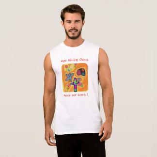 希望の治療教会キリスト教の平和愛Tシャツ 袖なしシャツ