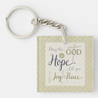 希望の盛り土の神喜び及び平和との キーホルダー
