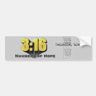 希望の3:16の数 バンパーステッカー