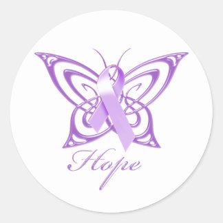 希望のAlzheimerの認識度の蝶 ラウンドシール