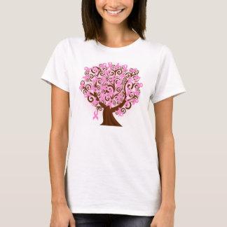 希望のHanesの乳癌の木 Tシャツ