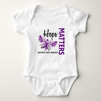 希望は膵臓癌蝶重要です ベビーボディスーツ