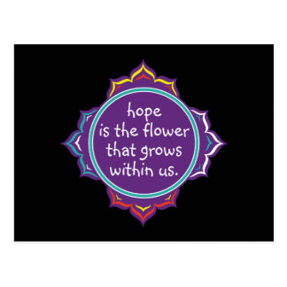 希望は花です ポストカード