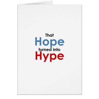 希望は誇大宣伝です: アンチオバマ カード