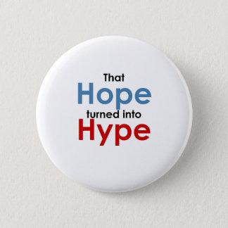 希望は誇大宣伝です: アンチオバマ 5.7CM 丸型バッジ