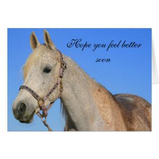 希望よりよい馬の挨拶状を感じます カード