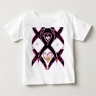 希望及びサポートの胸Cancer_のリボン ベビーTシャツ