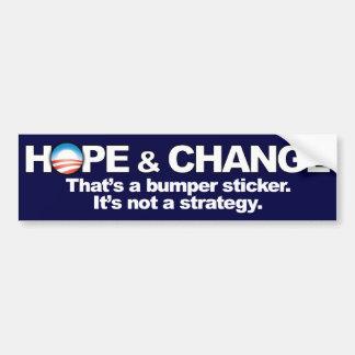 希望及び変更-反オバマ バンパーステッカー