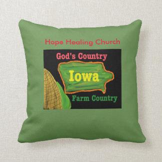 希望治療教会アイオワの農場の神の装飾用クッション クッション