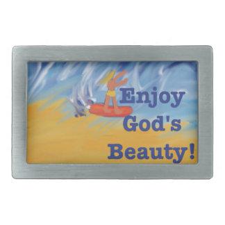 希望治療教会神の美しいのベルトの留め金 長方形ベルトバックル