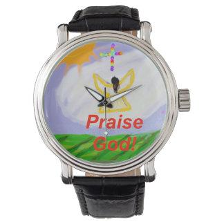 希望治療教会賞賛の神の天使の腕時計 腕時計
