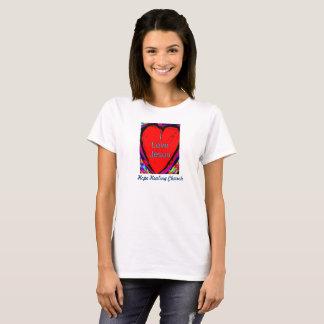 希望治療教会I愛イエス・キリストの女性のTシャツ Tシャツ
