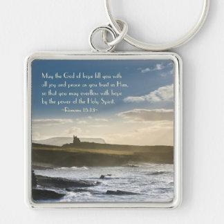 希望、ロマンの15:13の聖書の詩、アイルランドの海岸の神 キーホルダー
