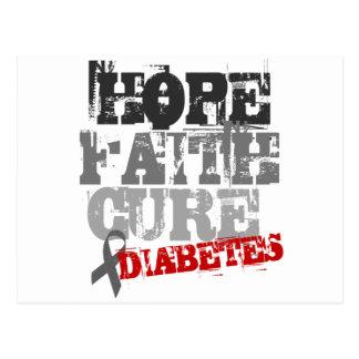 希望。 信頼。 治療。 糖尿病 ポストカード