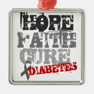 希望。 信頼。 治療。 糖尿病 メタルオーナメント