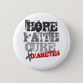 希望。 信頼。 治療。 糖尿病 5.7CM 丸型バッジ