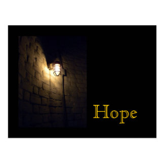 希望: 暗闇のライト ポストカード