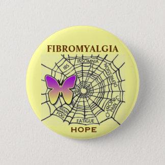 希望-黄色の線維筋痛PIN 5.7CM 丸型バッジ