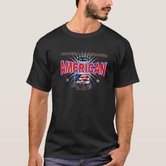 帖当の忠誠のアメリカの愛国者米国の旗のTシャツ Tシャツ