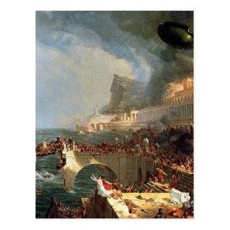 帝国のコース: トマスのColeによる破壊 ポストカード