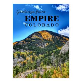 帝国コロラド州の挨拶の郵便はがき ポストカード