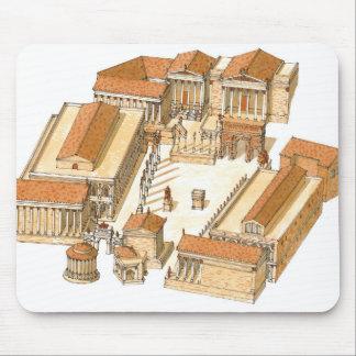 帝国フォーラム。 ローマ。 空中写真 マウスパッド